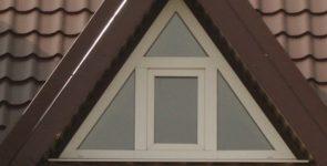 Треугольные пластиковые окна