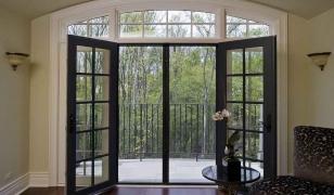 Французское окно-дверь с импостом